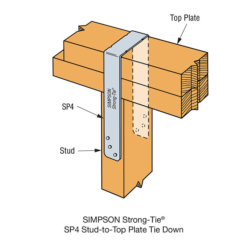 SP4_Detail_Stud-to-Top Plate Tie Down