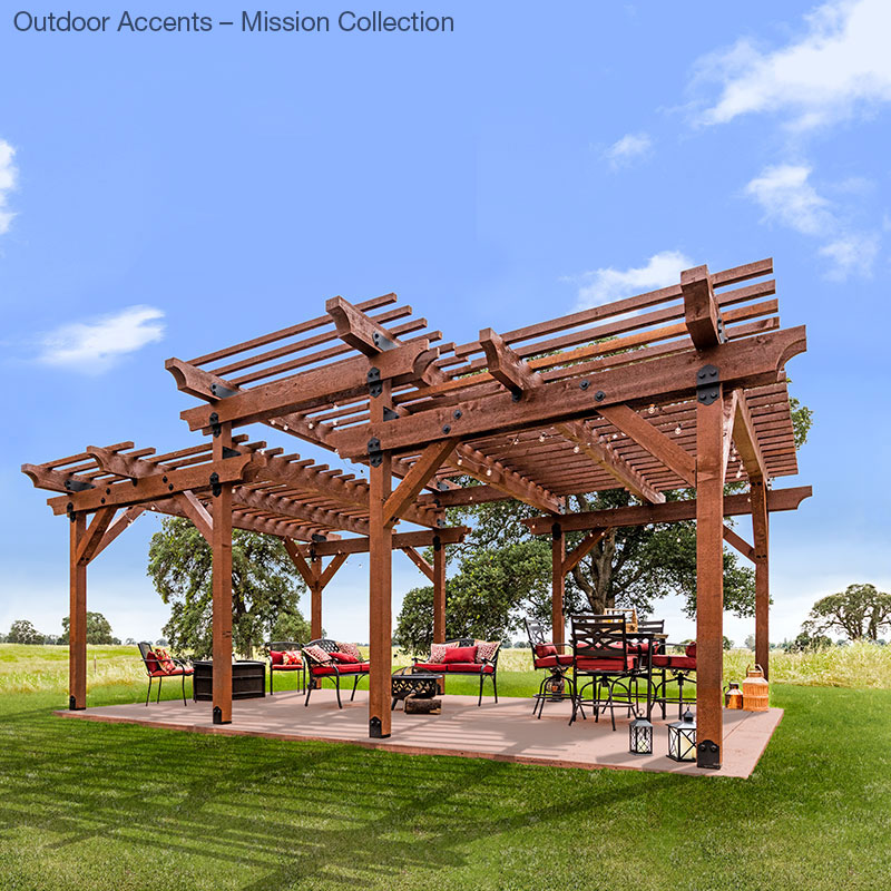 Pergola built with Outdoor Accents